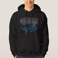 BMX Bike Sport Colored Reflection Hoodie