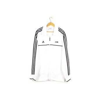 black & white ADIDAS track jacket - mens large