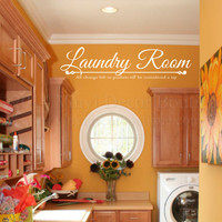 Laundry Room Wall art wall decal wall quote vinyl lettering vinyl wall quote Pocket Change