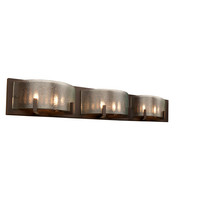 Alternating Current AC1196 Firefly Six-Light Warm Bronze Micro-Texture Glass Bath Fixture