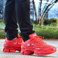 Best Online Sale Raf Simons x Adidas Consortium Ozweego 2 III Retro Sport Smart Running Shoes Red Trainers Shoes S74584