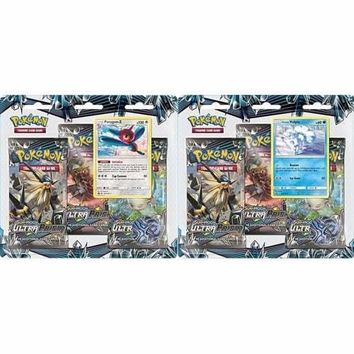 Pokemon SM5 Ultra Prism 3-Pack Booster Blister Packs Set of 2 Sealed. Alolan Vulpix and Porygon-Z Promos