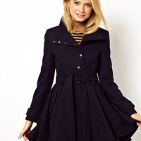 ASOS Popper Skater Coat