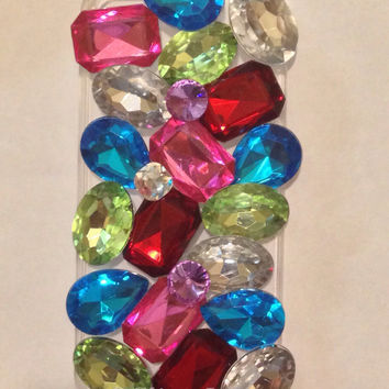 Crystal gem covered iPhone 5 case by GlitterLovers on Etsy