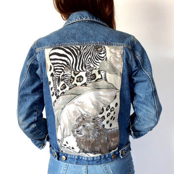 Animal Print Vintage Lee Denim Jacket