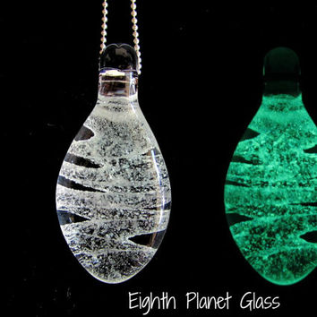 Glow in the Dark Glass Pendant - Hyperspace