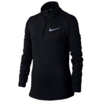 Nike Element Half-Zip Long Sleeve Top - Girls' Grade School - Half-Zip - Girls' Grade School - Nike - Clothing - Training - Black | Kids Foot Locker