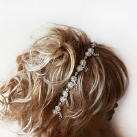 Bridal headband, Rhinestone and Pearl headband, Wedding Headband, Bridal Hair Accessory, Wedding Accessory