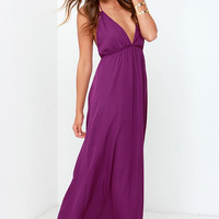 Gave Her Pause Purple Maxi Dress