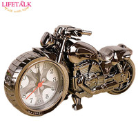 2016 New Free Shipping Friends Birthday Party Gift Needle Creative Motorcycle Shape Alarm Clock