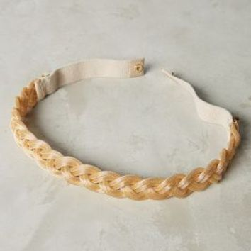 Lucent Braid Belt by Anthropologie in Gold Size:
