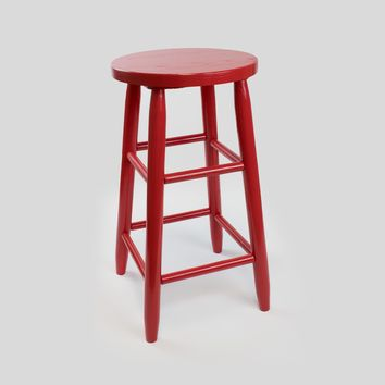 Dixie Seating Co. Garland Wood Round 24″ High Counter Stool No. 1524 - Ships within  2 to 4 Weeks