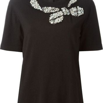 Marc Jacobs Bow Appliqu¨¦ Back Button Fastening Top