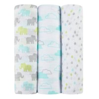 Ideal Baby by the Makers of Aden + Anais 3pk Muslin Swaddles, Tall Tale - Walmart.com