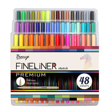 48 Fineliner Pen Markers / Highliter Pens / Fine Liner / Fineliner Pens / 0.4mm Fine Tip Markers Pen / Colored Pens / Micro Pens Fineliners