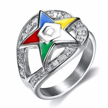 Order of the Eastern Star Masonic Ring