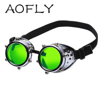 AOFLY Vintage Steampunk Sunglasses Goggles Welding Punk Gothic Glasses Cosplay Unisex Gothic Vintage Victorian Style Sunglasses