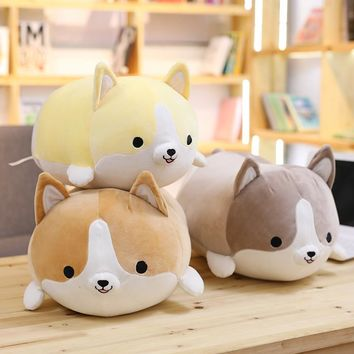 Miaoowa 35cm Cute Corgi Dog Plush Toy Stuffed Soft Animal Cartoon Pillow Lovely Christmas Gift for Kids Kawaii Valentine Present