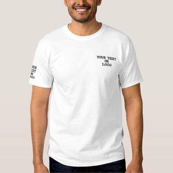 Custom Text/Logo Embroidered T-Shirt