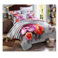 Cotton Active floral printing Quilt Duvet Sheet Cover Sets 2.0M/2.2M Bed Size 49