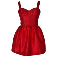 Bombshell Red Party Dress | Style Icon`s Closet