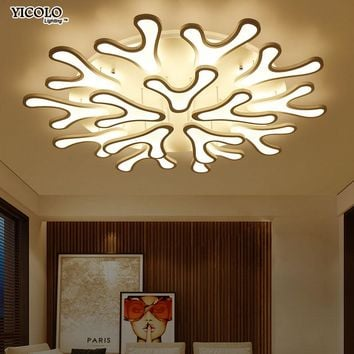 Surface Mounted  Led Ceiling Lights deer antler For Living Room luminaria led Bedroom Fixtures Indoor Home Dec Ceiling Lamp