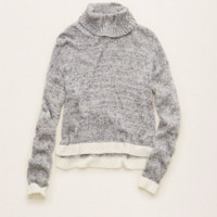 Aerie Turtleneck Sweater , Silver Shadow | Aerie for American Eagle
