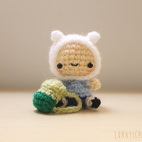 Amigurumi chibi Finn adventure time plush