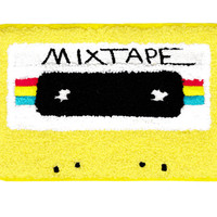 XL Extra Large Vintage Style Chenille Mixtape Cassette Mix Tape DJ Patch Badge (15cm)