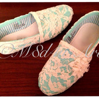 Mint Lace canvas Casual- SHOES are included in prices