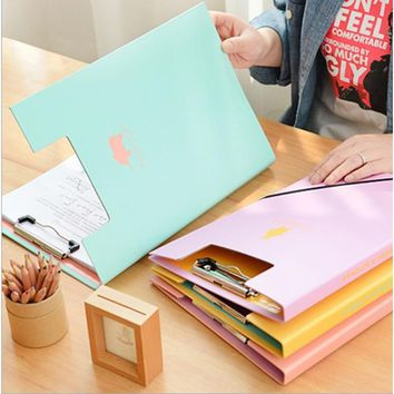 Clip File Folder Paper Storage A4 Size Office Accessories Supplies
