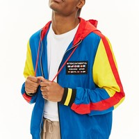 Colorblock Zip-Up Windbreaker