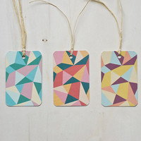 "3 Eco-friendly Gift Tags ""Triangles"""