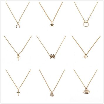 make wish necklace with card Elephant Pendant Short Chain Choker Necklace For Women Jewelry Christmas gift