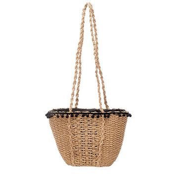 Fashion Beach Handbags Ladies Hand Bag Tote Travel Clutch 2017 Bohemian Straw Bags Women Summer Wicker Basket Bag