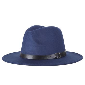 Women's Wide Brim Fedora Hat