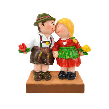 German Gift Idea Couple in Costume Fridge Magnet