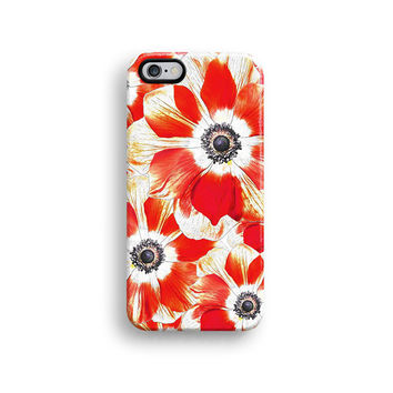 Red floral iPhone 6 case, iPhone 6 plus case S625