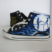 custom converse Nightmare before Christmas shoes Hand-painted on converse sneaker