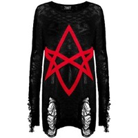 Hexagram Knit Sweater - Clothing