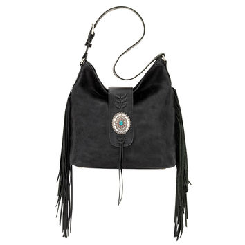 Shop Fringe Hobo Bags on Wanelo