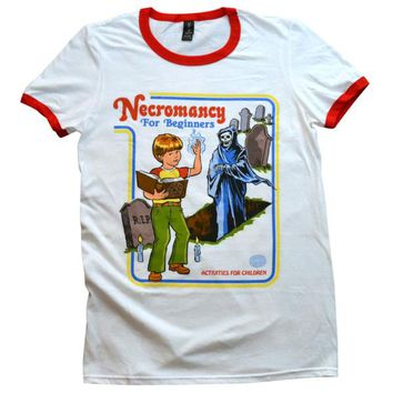 Necromancy for Beginners Ringer Shirt