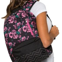 """Bed Of Roses"" Backpack by Metal Mulisha (Black)"