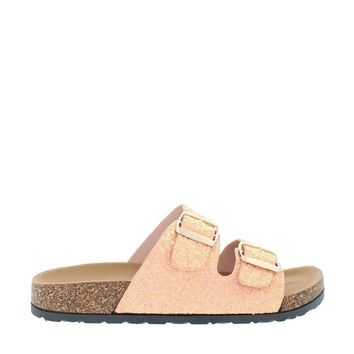 2Buckle Casual Sandal (CORAL GLITTER)