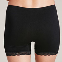 Lace-Trimmed Seamless Shorts