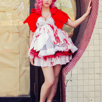 UpCycled Harajuku Little Dead Riding Hood Faery Vampire Cosplay Costume by Janice Louise Miller