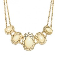 GEO DOME NECKLACE IN IVORY