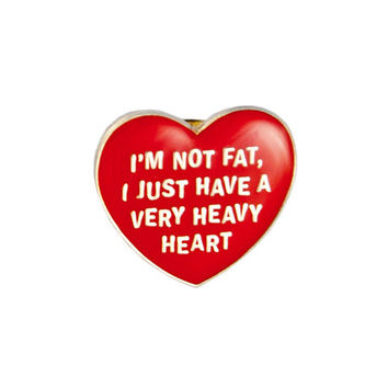 Very Heavy Heart Lapel Pin