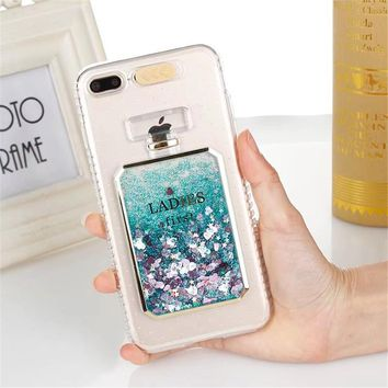Phone Cases For OPPO R11 R11 Plus Cover Glitter Bling Perfume Bottle Dynamic Liquid Quicksand Coque