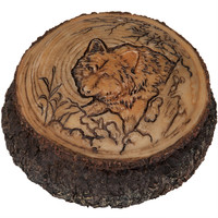 Wolf in the Trees Trinket Box